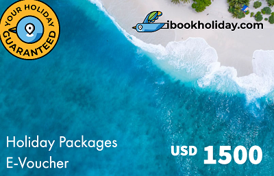 Holiday Packages E-Voucher From I Book Holiday, USD 1500