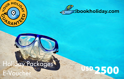 Holiday Packages E-Voucher From I Book Holiday, USD 2500