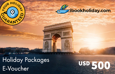 Holiday Packages E-Voucher From I Book Holiday, USD 500